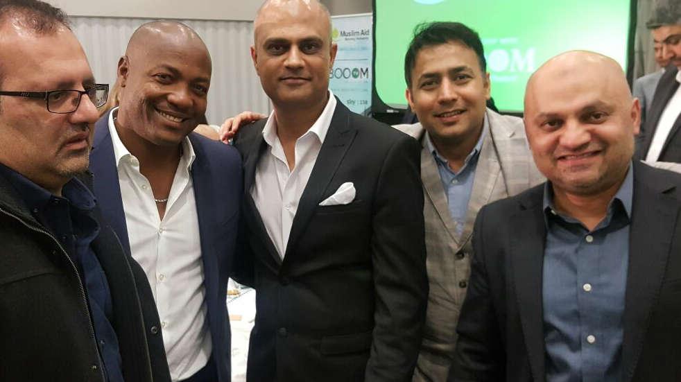 Supreme Cricket Academy coaching team with Brian Lara.