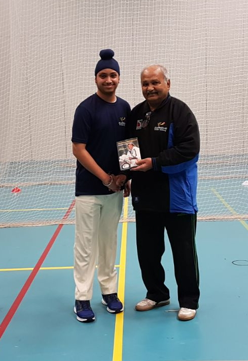 Sahib Singh selected for Warwick district U15 with Mushtaq Mohammed