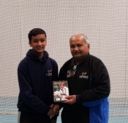 Roheel Qamar selected for Solihull district U14 with Mushtaq Mohammed