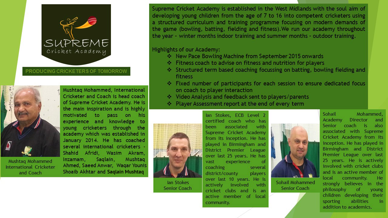 Supreme Cricket Academy -  Academy